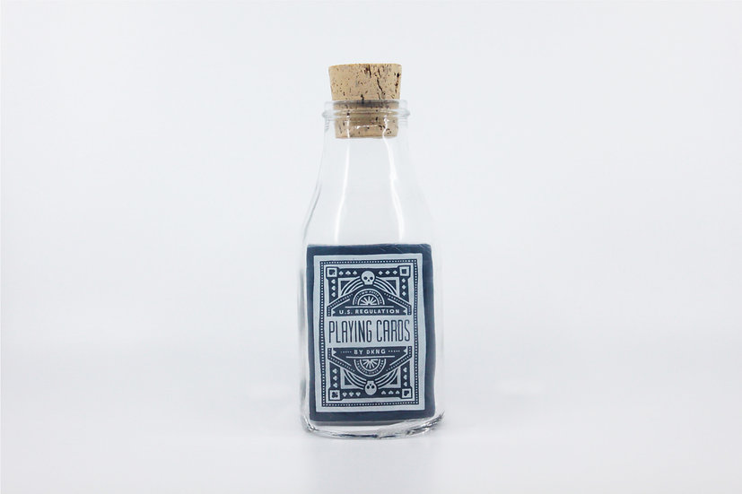 Impossible Bottle of Blue DKNG Playing Cards with Cellophane