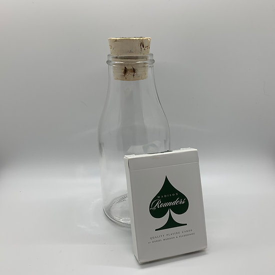Impossible Bottle of Green Rounders Playing Cards with Cellophane