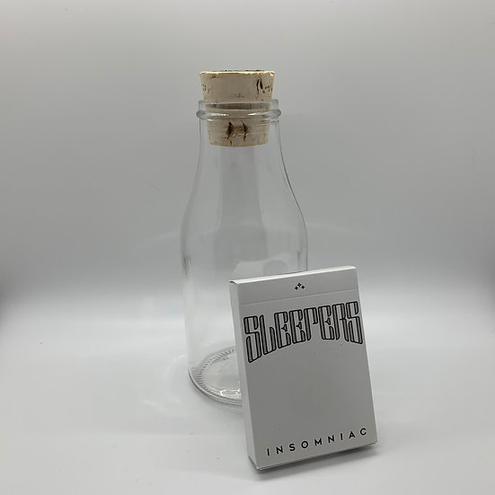 Impossible Bottle of Sleeper Insomniac Playing Cards with Cellophane