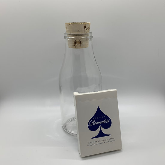Impossible Bottle of Blue Rounders Playing Cards with Cellophane