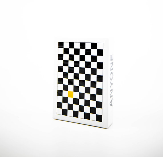 Yellow Checkerboard Playing Cards