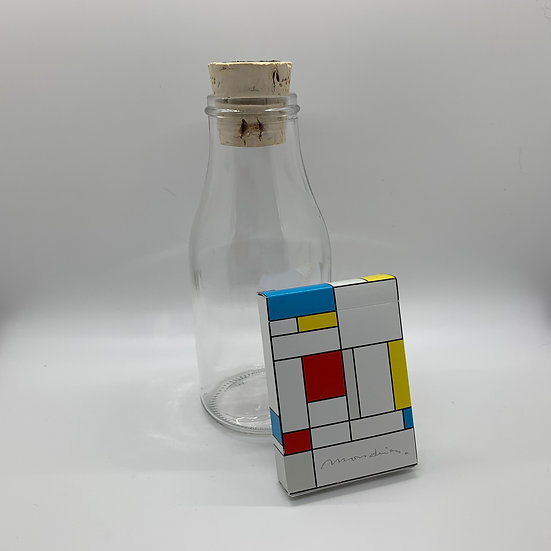 Impossible Bottle of Mondrian Playing Cards with Cellophane