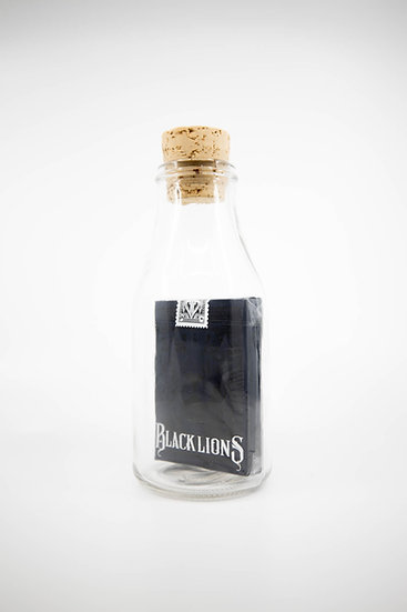 Impossible Bottle of Black Lions Playing Cards with Cellophane