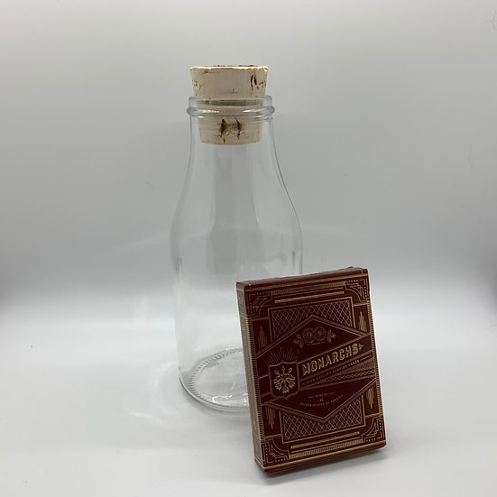 Impossible Bottle of Red Monarchs Playing Cards with Cellophane