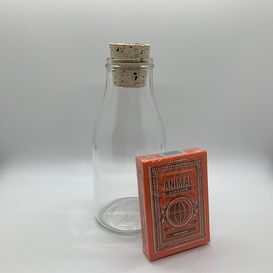 Impossible Bottle of Animal Kingdom Playing Cards with Cellophane
