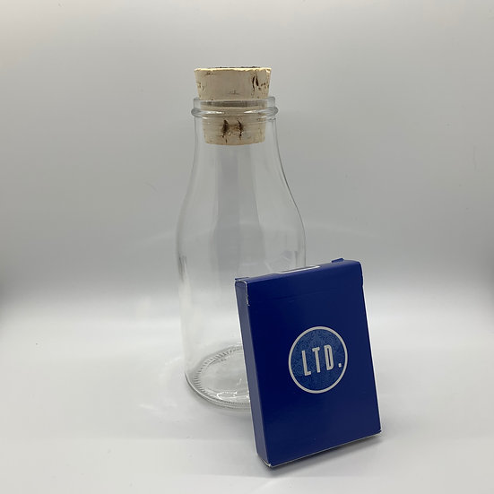 Impossible Bottle of Blue LTD Playing Cards with Cellophane