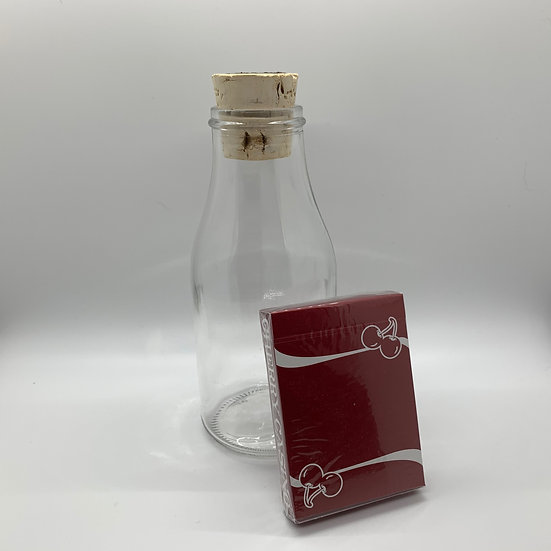 Impossible Bottle of Cherry Casino Reno Red Playing Cards with Cellophane