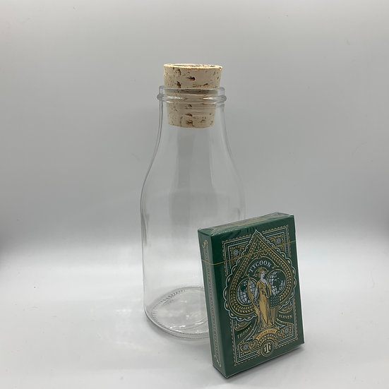 Impossible Bottle of Green Tycoons Playing Cards with Cellophane