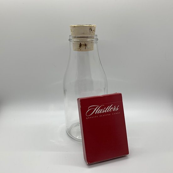 Impossible Bottle of Red Hustlers Playing Cards with Cellophane