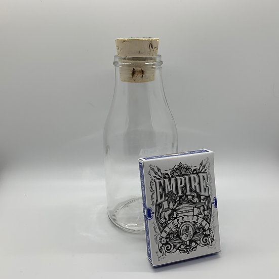 Impossible Bottle of Empire Bloodline Blue Playing Cards with Cellophane