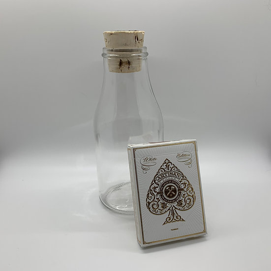 Impossible Bottle of White Artisan Playing Cards with Cellophane