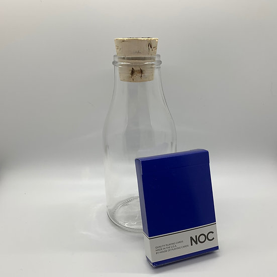 Impossible Bottle of Blue NOC Playing Cards with Cellophane