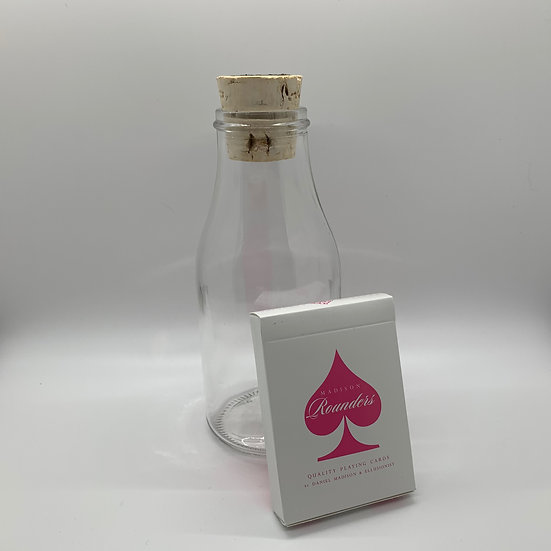 Impossible Bottle of Pink Rounders Playing Cards with Cellophane