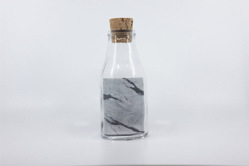 Impossible Bottle of Marble Playing Cards with Cellophane