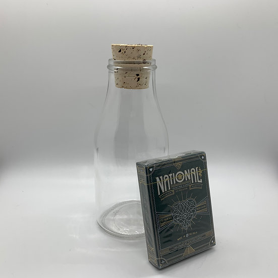 Impossible Bottle of Green National Playing Cards with Cellophane