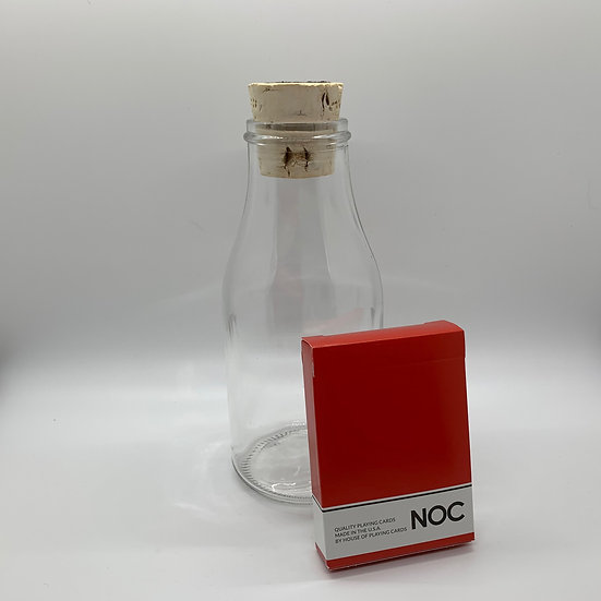 Impossible Bottle of Red NOC Playing Cards with Cellophane