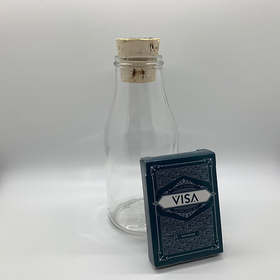 Impossible Bottle of Blue Visa Playing Cards with Cellophane