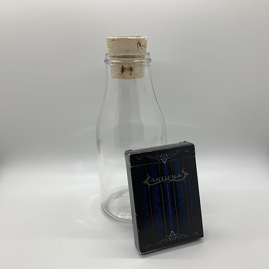 Impossible Bottle of Blue Artifice Playing Cards with Cellophane
