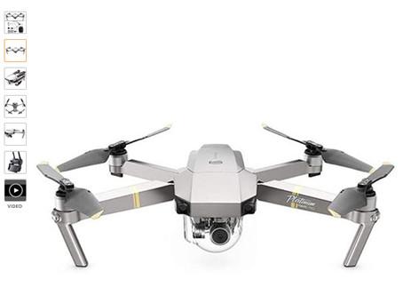 DJI Mavic Pro Platinum Combo - Drohne mit 4K Full-HD Videokamera inkl. Fernsteuerung I 12 Megapixel