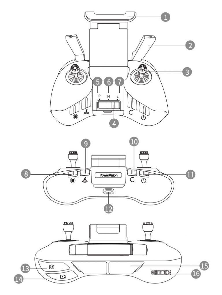 Die Fernsteuerung der PowerEgg X-Drohne