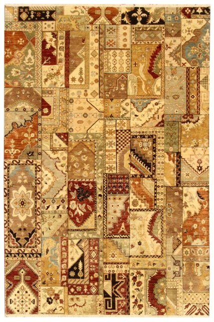 """Indian Patchwork - 6'7""""x9'9"""""""