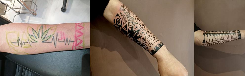 Cover Up Tattoo sul braccio