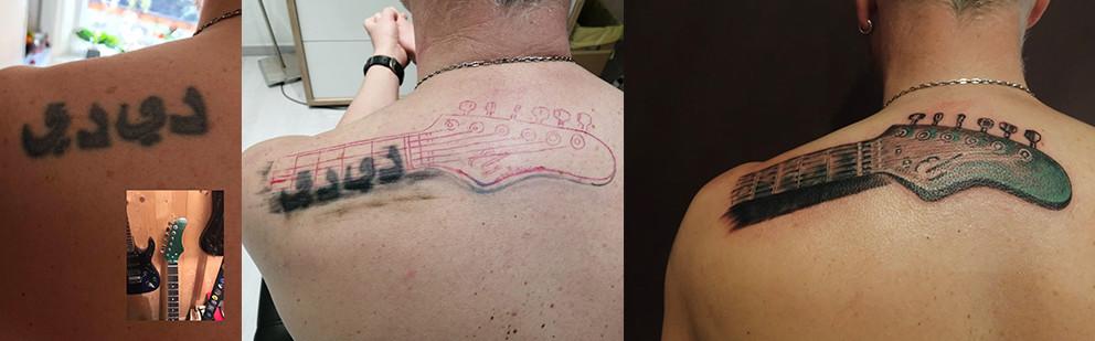 Cover-Up Tattoo sulla schiena
