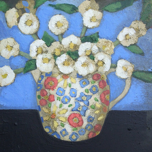 'Blossoms in a Jessie M. King Jug' Signed Giclée Print