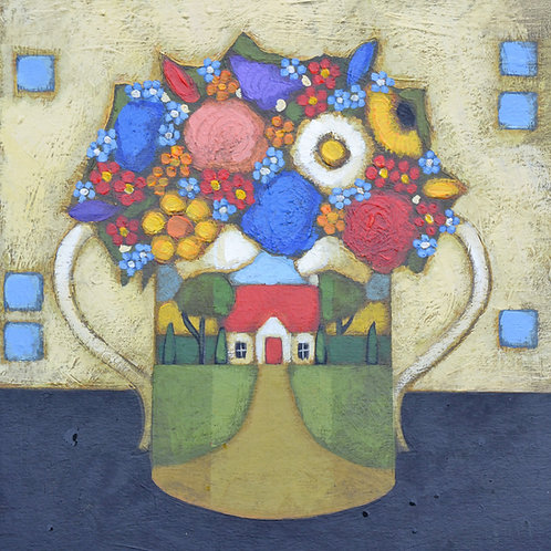 'Little House Vase' Signed Giclée Print