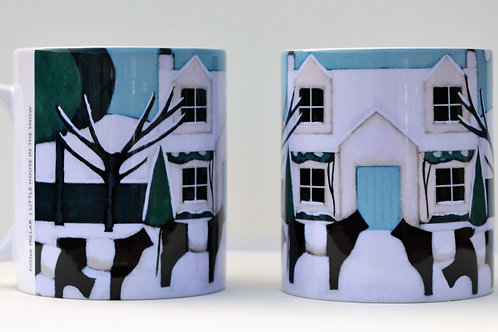 'Little House in the Snow' Ceramic Mug
