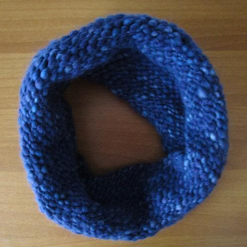 Plavi melirani topli ženski šal