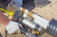 запрессовка гильзы присоединяемой трубы