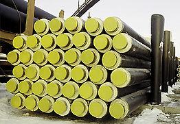 стальные трубы в ППУ-изоляции в полиэтиленовой оболочке для подземной бесканальной прокладки