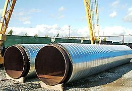 трубы в изоляции минеральной ватой больших диаметров