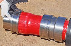 вставить фитинг в развальцованный конец трубы