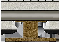 Схема опоры трубопровода ППУ надземной прокладки