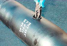 Изоляция стыка с помощью ТУ муфты. Дренажная пробка удаляется и заливочное отверстие заваривается полиэтиленовой пробкой