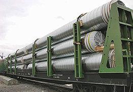 транспортировка труб в оцинкованной оболочке железнодорожным транспортом