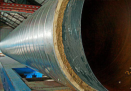труба в комбинированной теплоизоляции: минвата + ППУ