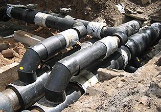 Изоляция стыков предварительно изолированных трубопроводов