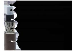 схематичное изображение саморегулирующегося греющего термокабеля