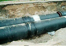 Стыки труб термоусаживающимися муфтами