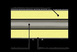 стык ППУ в оцинкованной оболочке для t <150 град.С, схема