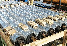 транспортировка труб в ППУ-изоляции в оцинкованной оболочке для надземной прокладки