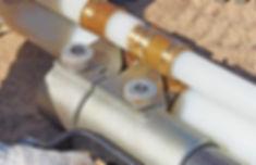 надвинуть инструментом гильзу на фитинг на присоединяемой трубе до упора