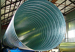 оболочка из оцинкованной стали диаметром 1600мм