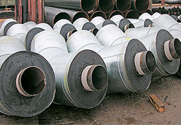 Фасонные детали изолированных ППУ трубопроводов. Отводы