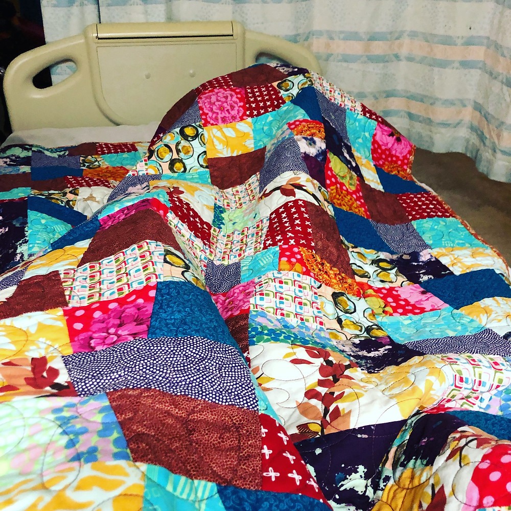 The ugly hospital quilt.