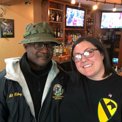 Amanda with Fellow veteran State Central Committeeman Al Riley on Veterans Day, November 2017