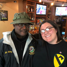 Amanda with Fellow veteran State Central Committeeman Al Riley on Veterans Day, November 2017